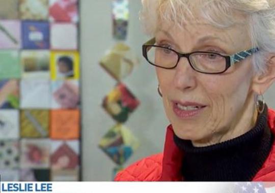 Close-up of Leslie Lee