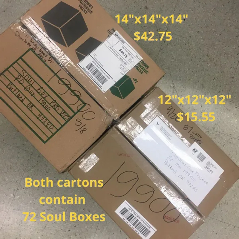 boxes ready for shipment with measurements