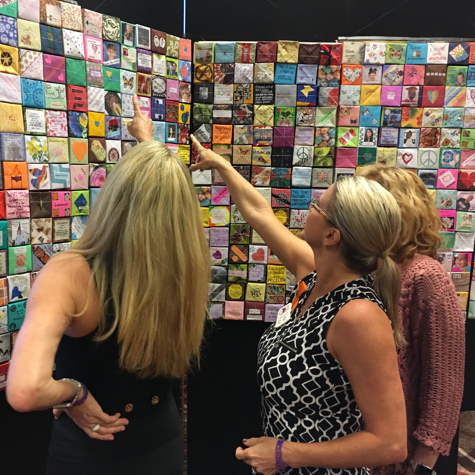 Visitors point to Soul Boxes, Mental Health conference, Reno, NV