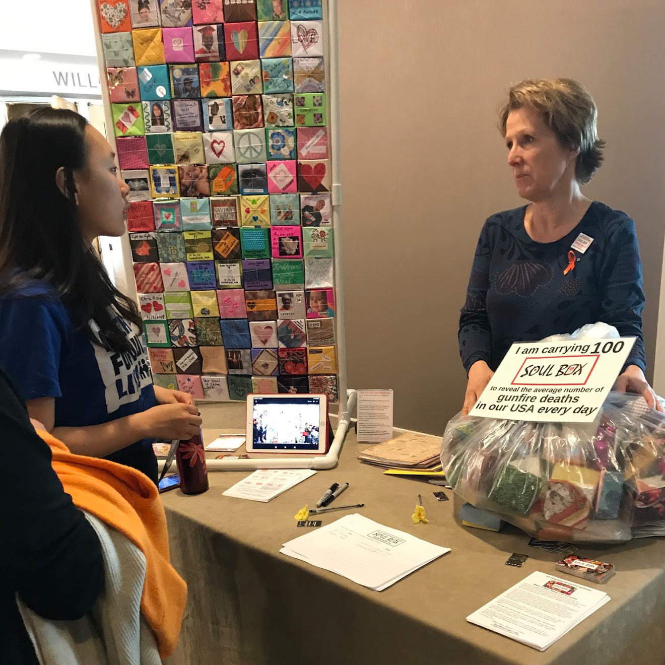 visitor learns about Soul Box at GVP conference, Seattle