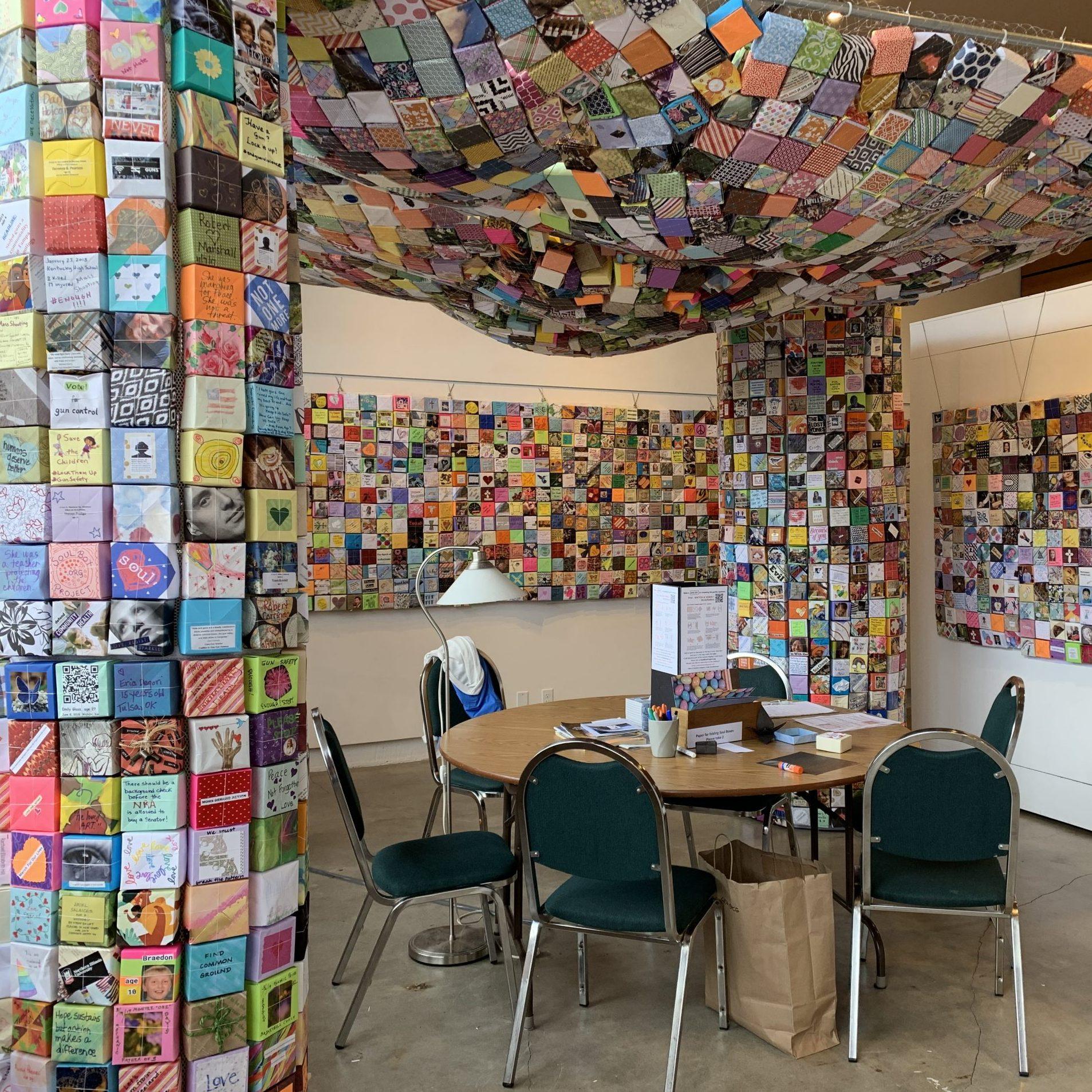 Soul Box Exhibit Folding Station