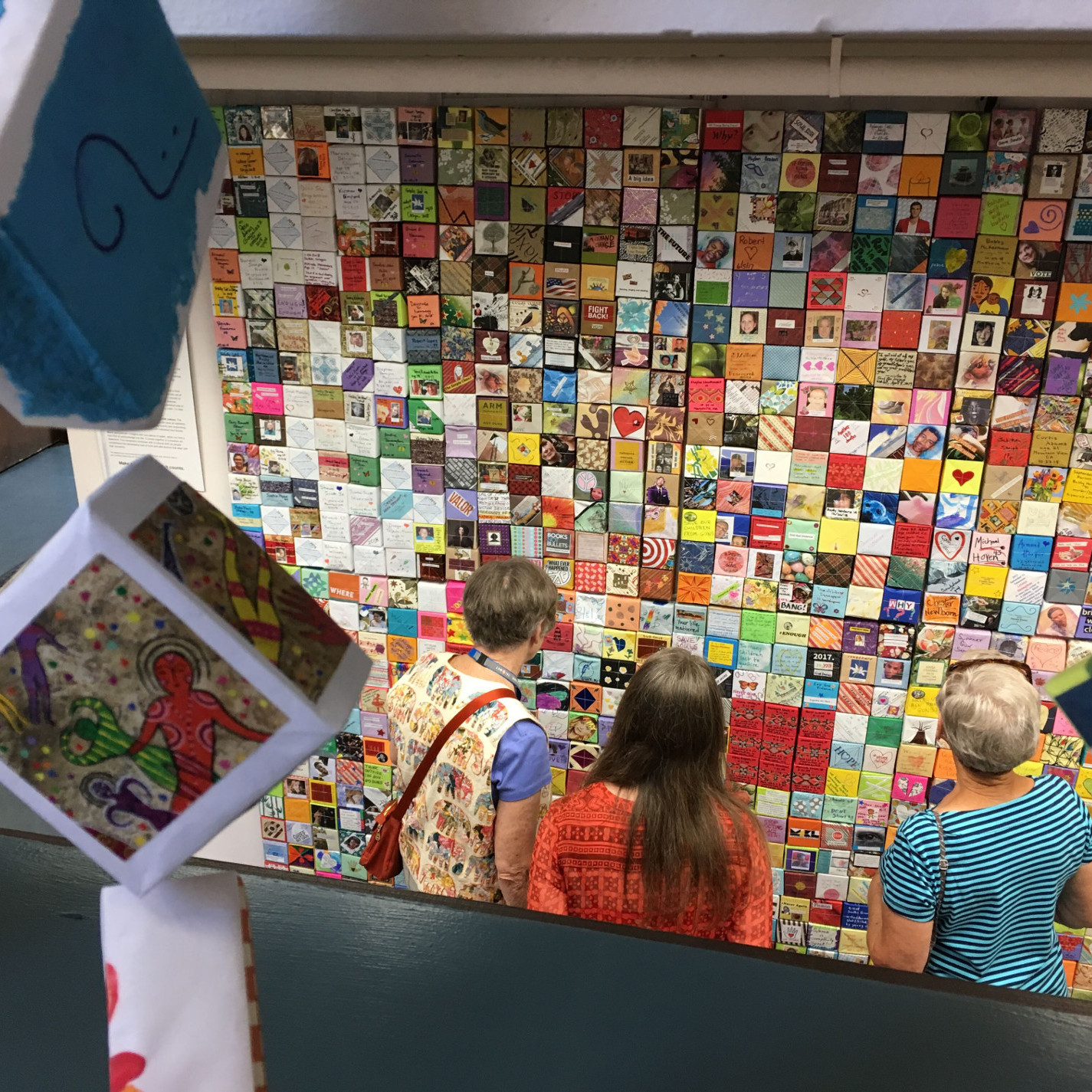 Soul Box Panels and strand, City Hall exhibit, Milwaukie, OR