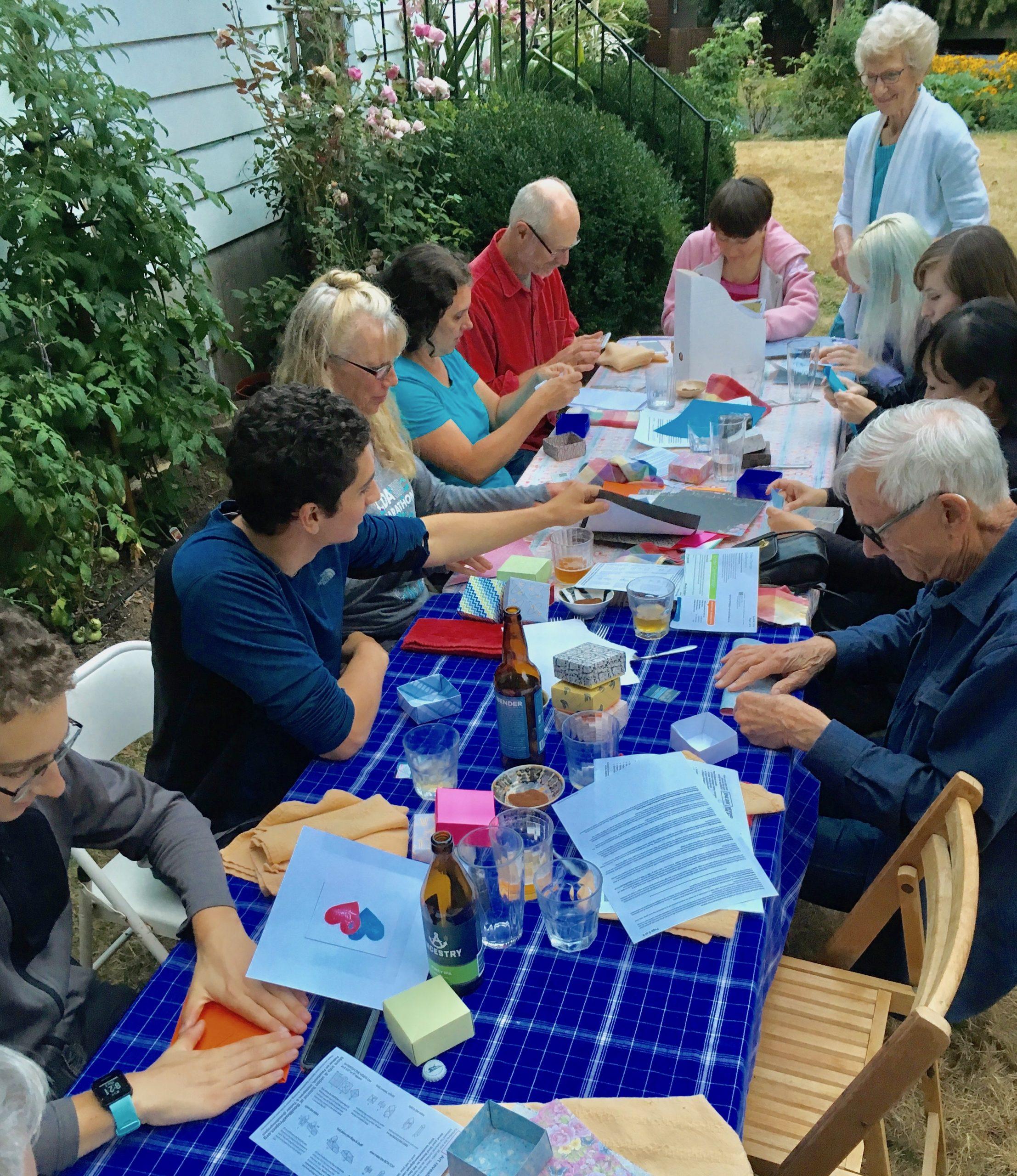 Folding together: Backyard gathering