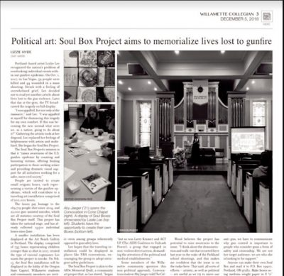 Willamette Weekly article, 2018