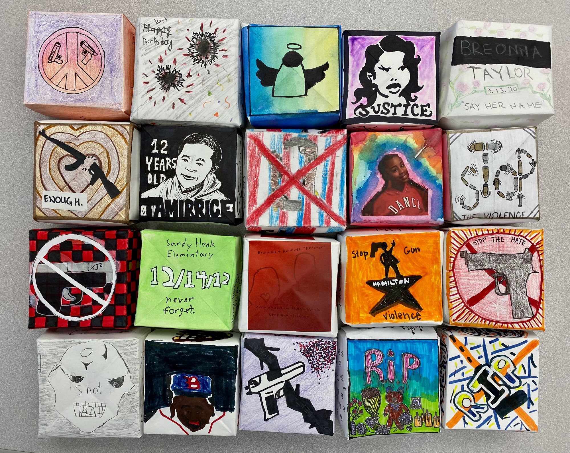 Boxes created by Bronx New York students