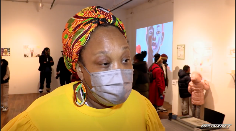 Curator Beverly Emers speaks to BronxNet News about the Giving Light exhibit, Bronx Art Space, Bronx, NY
