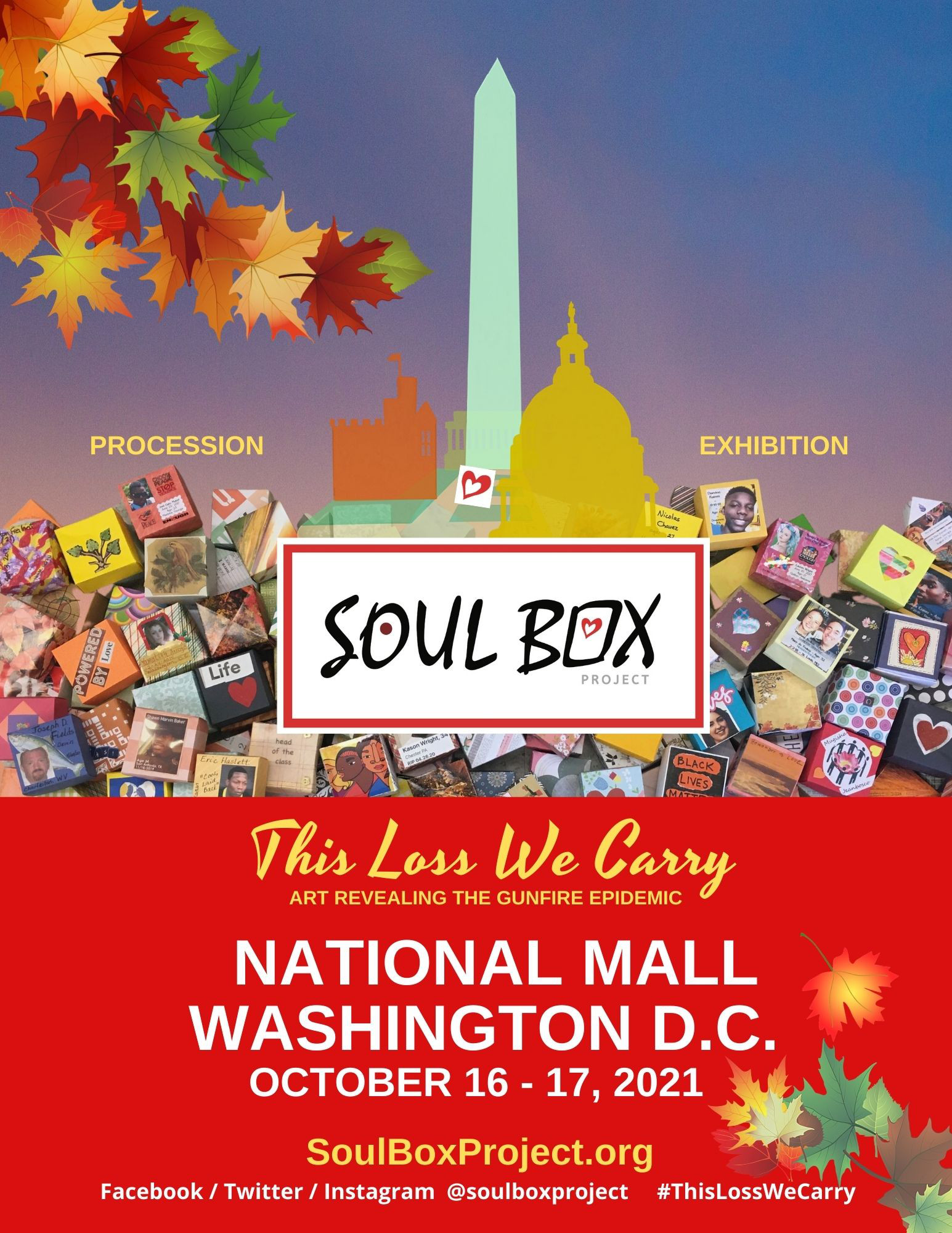 This Loss We Carry Poster Art for Washington DC Gunfire Violence Awareness Event