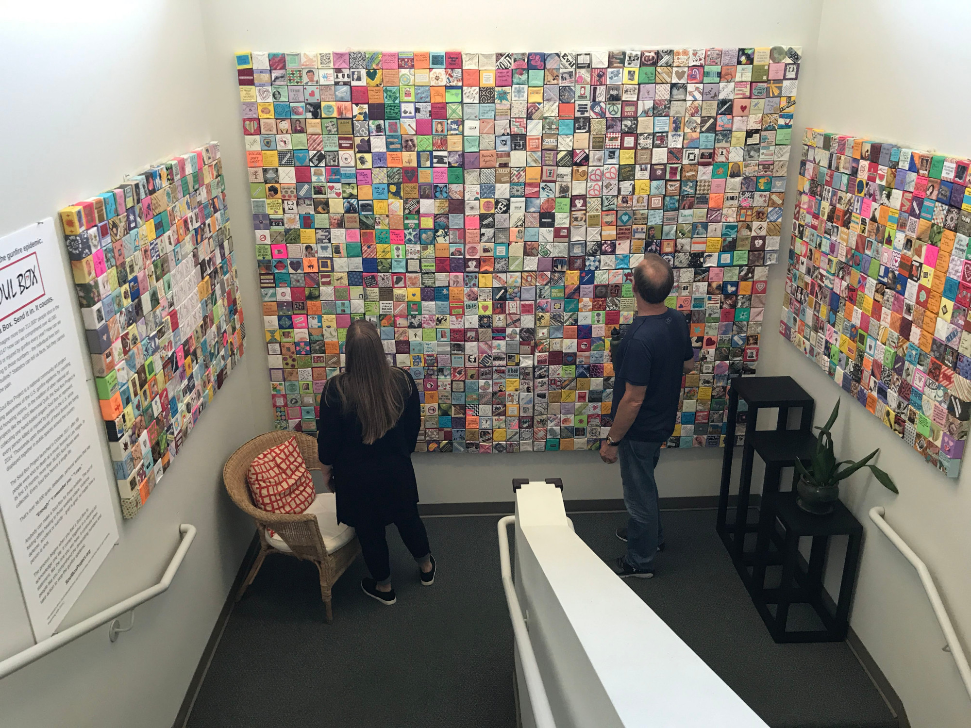 Viewing Soul Box Exhibit in Stairwell at Hatch