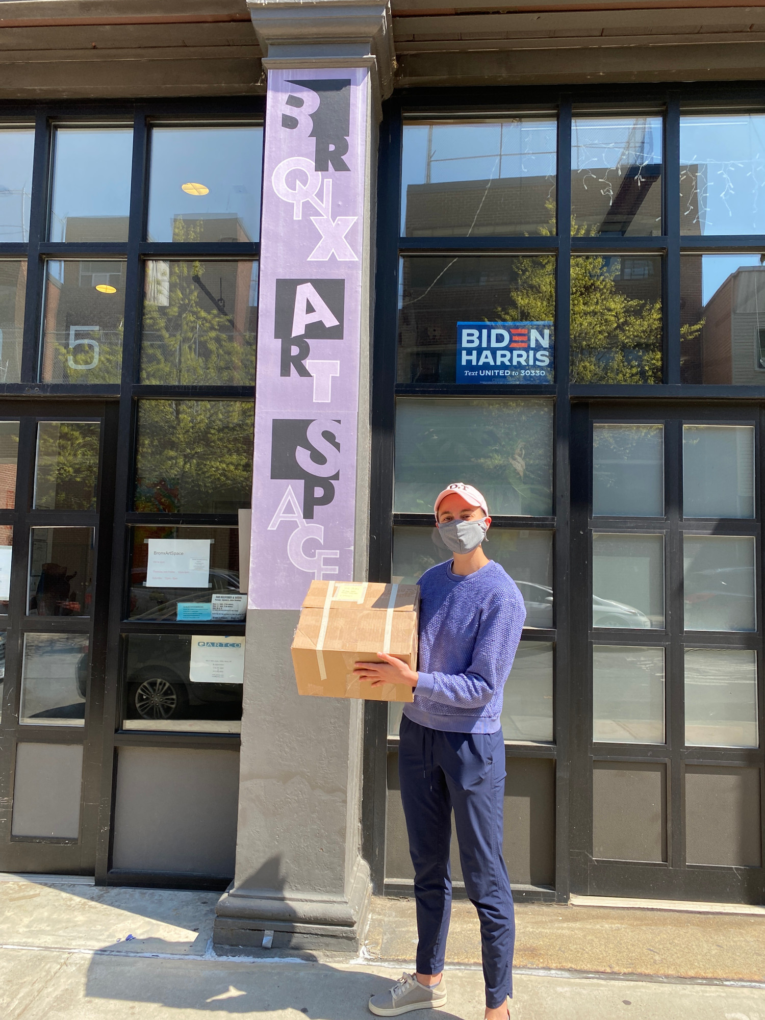 Soul Boxes made by high school art students are delivered to The Bronx Art Space by their teacher