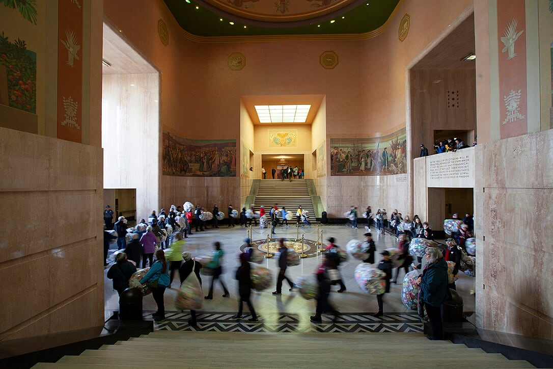Soul Box Procession at Oregon State Capitol Rotunda