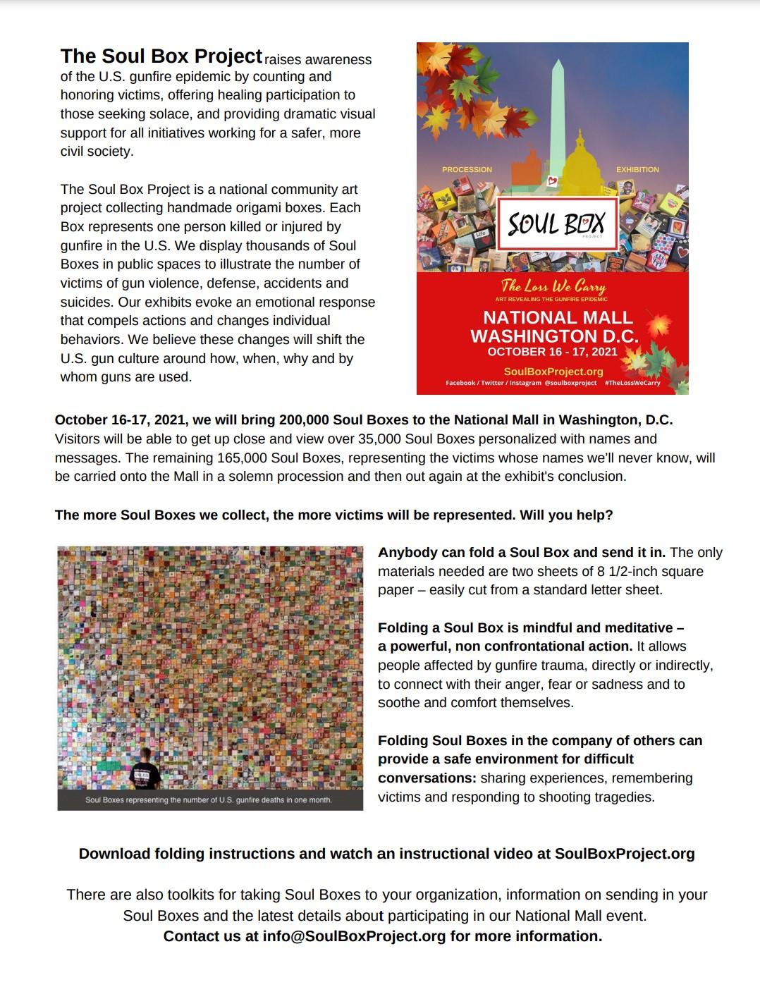 Media Press Release for Washington DC National Mall Exhibit